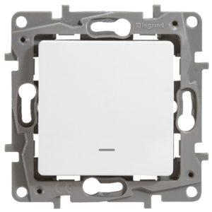Выключатель/переключатель Legrand Etika 10A с подсветкой белый
