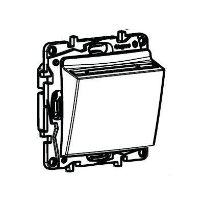 Выключатель с ключ-картой Legrand Etika алюминий