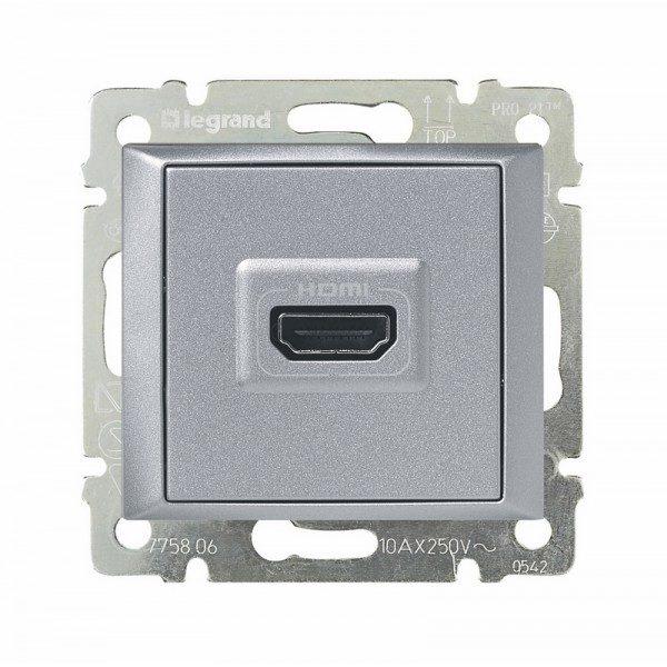 Розетка Legrand Valena Розетка HDMI для аудио/видеоустройств алюминий