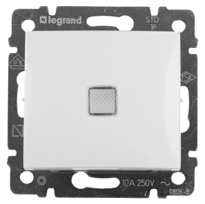 Переключатель Legrand Valena промежуточный с подсветкой 10 AX 250 В белый