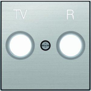 Розетка TV-R единственная ABB Sky, нержавеющая сталь