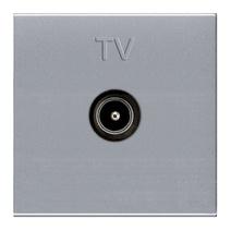 Телевизионная розетка TV одиночная ABB Niessen Zenit серебристый