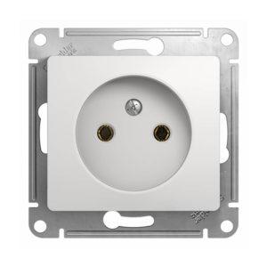 Механизм розетки без заземления Schneider Electric GLOSSA, цвет белый