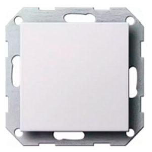 Выключатель 1 кл - белый глянцевый, Gira System 55