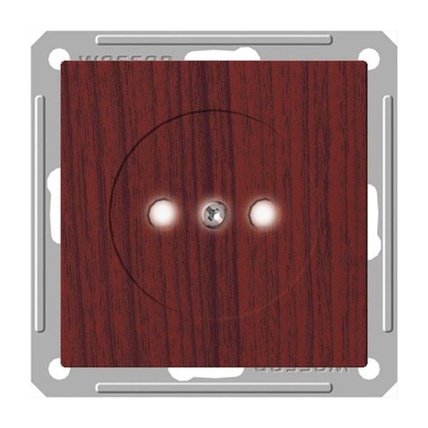 Механизм розетки без заземления со шторками Schneider Electric W59, цвет морёный дуб