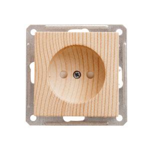 Механизм розетки без заземления со шторками Schneider Electric W59, цвет сосна
