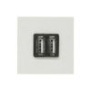 Розетка USB двойная для зарядки ABB Niessen Zenit 2х750 мА/1х1500 мА, белый