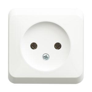 Розетка без заземления без шторок открытой установки Schneider Electric Этюд, цвет белый