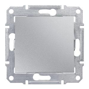 Выключатель 1 клавишный перекрестный (из 3-х мест) ABB Cosmo алюминий