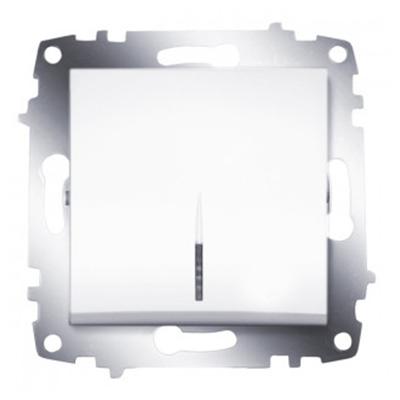 Выключатель 1 клавишный с подсветкой ABB Cosmo белый