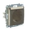 Розетка электрическая с заземлением с крышкой ABB Cosmo кремовый