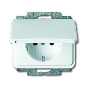 Розетка с заземляющими контактами с откидной крышкой ABB 16А/250В