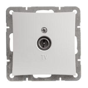 Механизм телевизионной оконечной розетки 0,7 дБ Schneider ДУЭТ, цвет белый