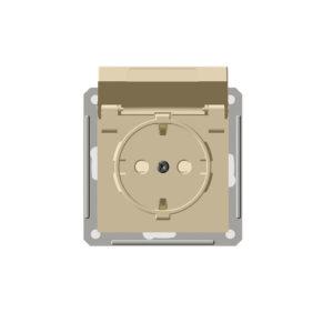 Механизм розетки с заземлением со шторками IP44 Schneider Electric W59 AQUA, цвет слоновая кость