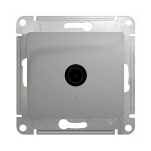 Механизм телевизионной проходной розетки 4dB Schneider Electric GLOSSA, цвет алюминий