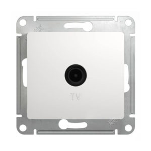 Механизм телевизионной оконечной розетки 1dB Schneider Electric GLOSSA, цвет белый