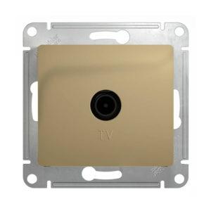 Механизм телевизионной проходной розетки 4dB Schneider Electric GLOSSA, цвет титан