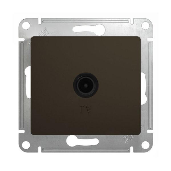 Механизм телевизионной оконечной розетки 1dB Schneider Electric GLOSSA, цвет шоколад