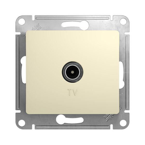 Механизм телевизионной проходной розетки 4dB Schneider Electric GLOSSA, цвет бежевый