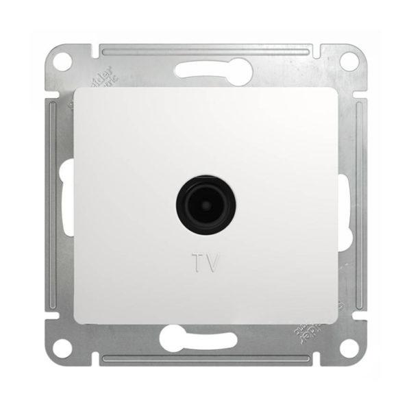 Механизм телевизионной проходной розетки 4dB Schneider Electric GLOSSA, цвет белый