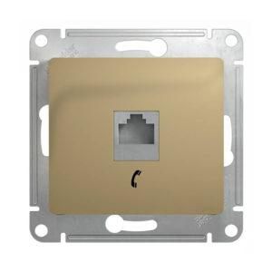 Механизм телефонной розетки RJ11 Schneider Electric GLOSSA, цвет титан