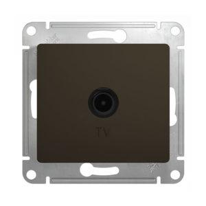 Механизм телевизионной проходной розетки 4dB Schneider Electric GLOSSA, цвет шоколад
