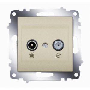 Розетка TV-SAT оконечная ABB Cosmo титаниум