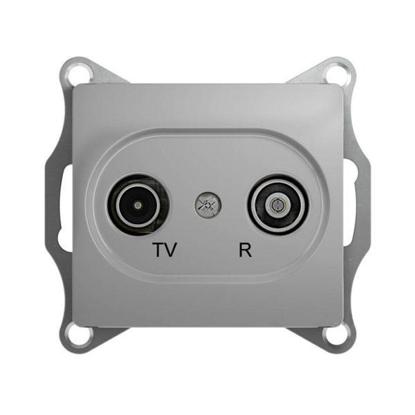 Механизм TV-R оконечной розетки 1dB Schneider Electric GLOSSA, цвет алюминий