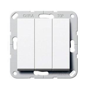 Выключатель 3 кл - белый глянцевый, Gira System 55