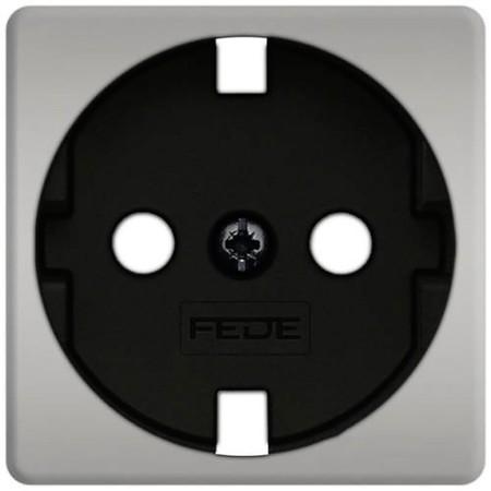 Розетка с заземлением Fede 10-16А/250В, винтовой зажим (блестящий хром/черный)