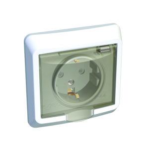 Розетка с заземлением со шторками IP44 скрытой установки Schneider Electric Этюд, цвет белый