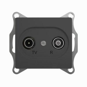 Механизм TV-R проходной розетки 4dB Schneider Electric GLOSSA, цвет антрацит