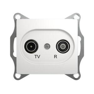 Механизм TV-R оконечной розетки 1dB Schneider Electric GLOSSA, цвет белый