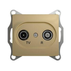 Механизм TV-R проходной розетки 4dB Schneider Electric GLOSSA, цвет титан