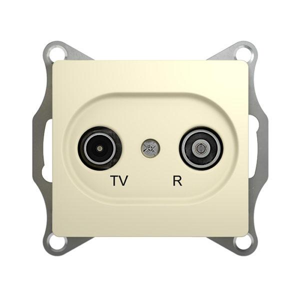 Механизм TV-R проходной розетки 4dB Schneider Electric GLOSSA, цвет бежевый