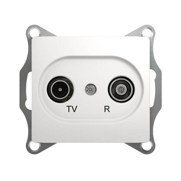 Механизм TV-R проходной розетки 4dB Schneider Electric GLOSSA, цвет белый
