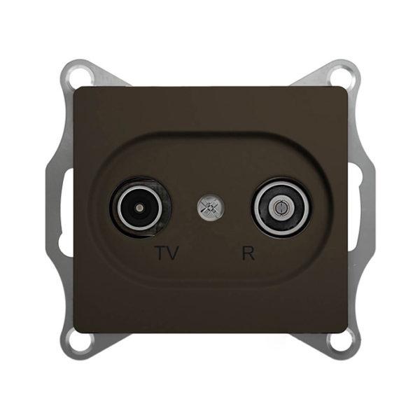 Механизм TV-R оконечной розетки 1dB Schneider Electric GLOSSA, цвет шоколад