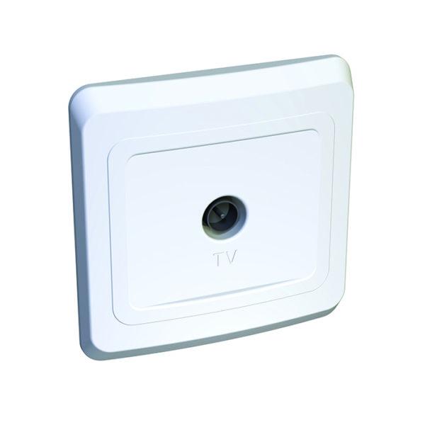 Розетка телевизионная скрытой установки Schneider Electric Этюд, цвет белый