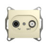 Механизм телевизионной оконечной розетки TV/SAT 1dB Schneider Electric GLOSSA, цвет бежевый