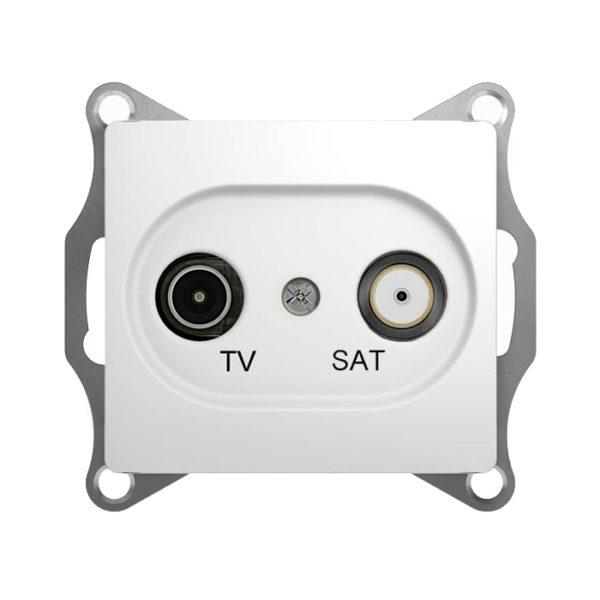Механизм телевизионной оконечной розетки TV/SAT 1dB Schneider Electric GLOSSA, цвет белый