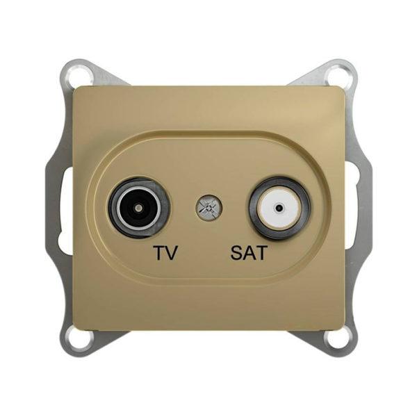 Механизм телевизионной проходной розетки TV/SAT 4dB Schneider Electric GLOSSA, цвет титан