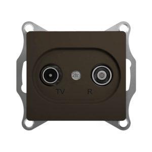 Механизм TV-R проходной розетки 4dB Schneider Electric GLOSSA, цвет шоколад