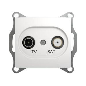 Механизм телевизионной проходной розетки TV/SAT 4dB Schneider Electric GLOSSA, цвет белый