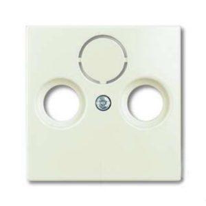 Розетка ТВ + радио + спутник оконечная Jung с лицевой панелью ABB Basic 55, шале-белый