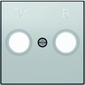 Розетка TV-R единственная ABB Sky, серебряный