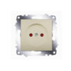 Розетка электрическая с заземлением со шторками ABB Cosmo титаниум