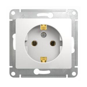 Механизм розетки с заземлением Schneider Electric GLOSSA, цвет белый