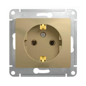 Механизм розетки с заземлением Schneider Electric GLOSSA, цвет титан