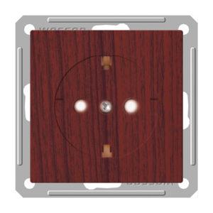 Механизм розетки с заземлением со шторками Schneider Electric W59, цвет морёный дуб