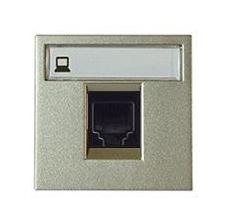 Розетка компьютерная 8 контактов одноместная ABB Niessen Zenit , категория 5E (шампань)